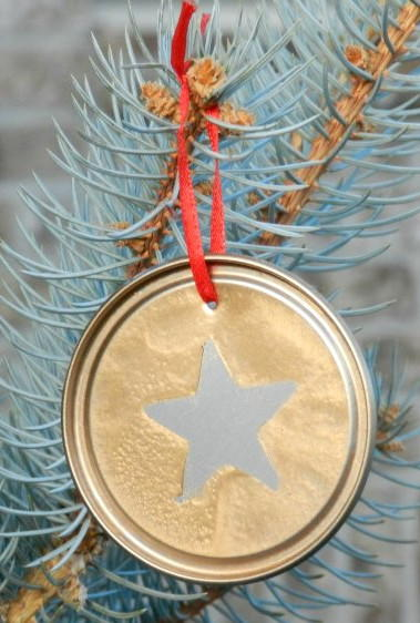 Silver and Gold DIY Ornaments