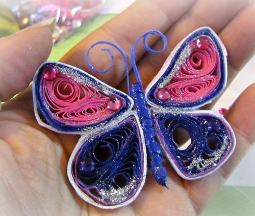 Radiant Quilled Butterfly