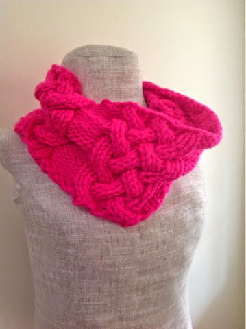 Neon Chunky Cabled Cowl