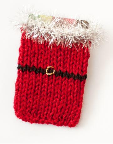Santa Knit Gift Card Sleeve