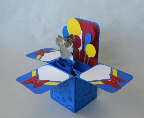 Donald Duck Handmade Box Card