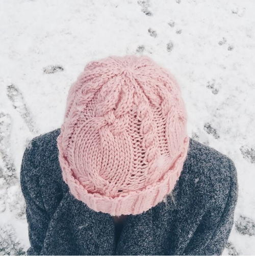 5c5d1712932 Dusty Rose Cable Hat