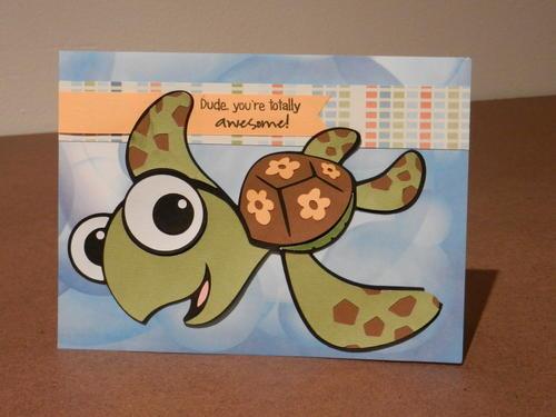 DUDE Finding DoryInspired DIY Birthday Card – Diy Birthday Cards