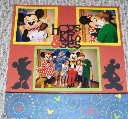 Hugs and Kisses Disney Scrapbooking Layout