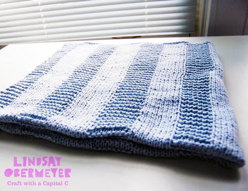 Beginner Blue Baby Blanket