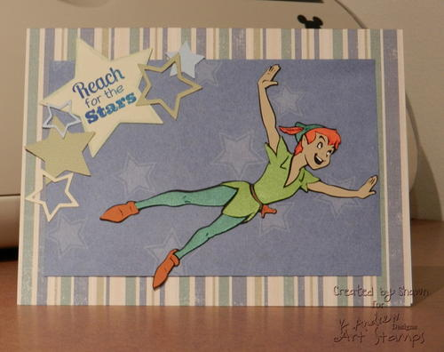 Reach For The Stars Handmade Card