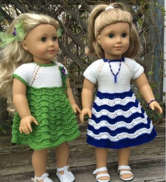Two American Girl Doll Dresses AllFreeKnitting.com