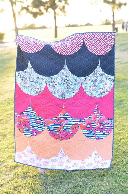 Ladylike Scallops Quilt Tutorial