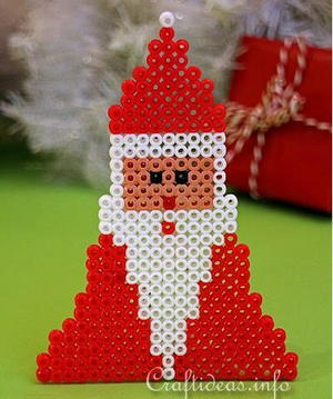 Hama Bead Santa DIY Ornament