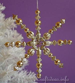 Beaded Snowflake DIY Christmas Ornament