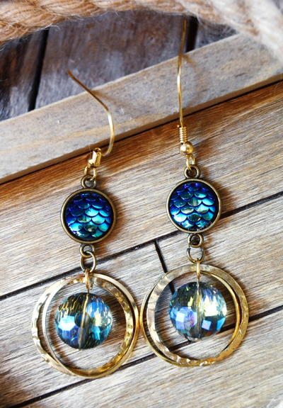 Crystal Mermaid Drop Earrings