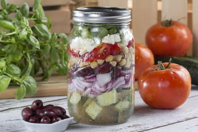 Greek Salad in a Jar