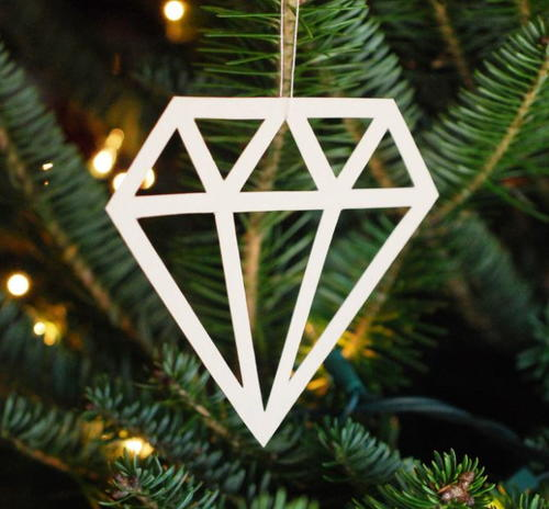 Printable Paper Diamond Ornament