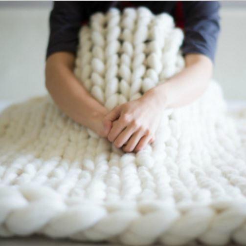 Extreme Cream Knitted Blanket Allfreeknitting Com