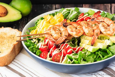 Easy Cilantro Lime Grilled Shrimp Salad