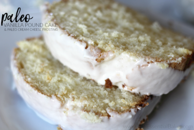 Easy Paleo Vanilla Pound Cake and Cream Cheese Frosting