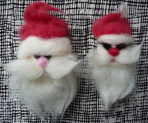 Felted Santa Christmas Crafts