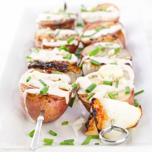 Easy  Healthy Grilled Potatoes with Bleu Cheese
