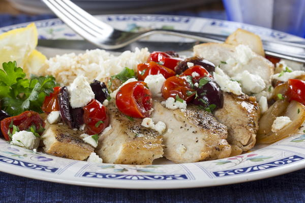 Quick-as-a-Wink Greek Chicken