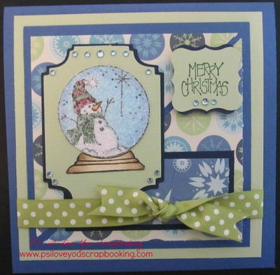 Snowman Snow Globe DIY Card