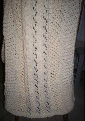 Cables and Lace Shawl
