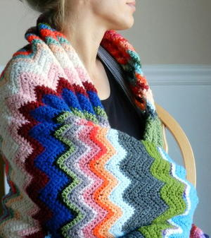 Chevron Blanket Crochet Pattern
