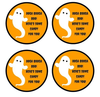 photograph relating to Printable Halloween Tag known as Free of charge Printable Ghost Sweet Tags