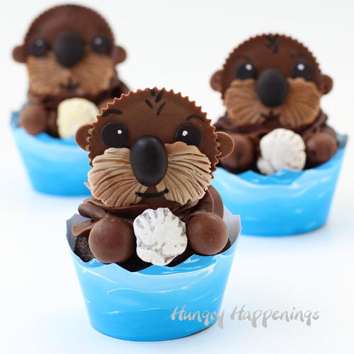Sea Otter Cupcake Recipe for Kids