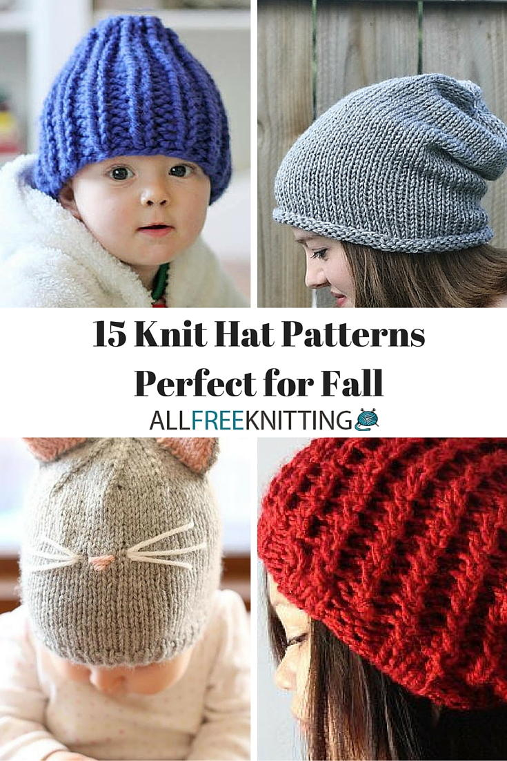 Knit Hat Pattern Graham : 15 Knit Hat Patterns Perfect for Fall AllFreeKnitting.com