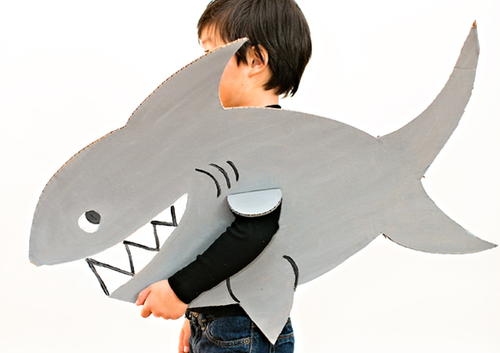 Shark DIY Halloween Costume