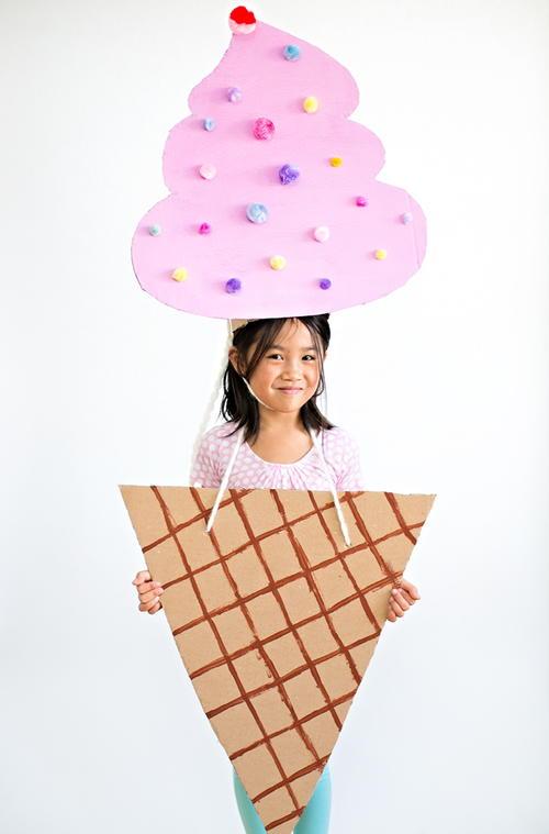 ice cream cone diy halloween costume