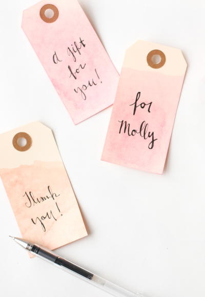 5 Minute Dip Dyed Gift Tags