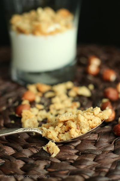 Salty Hazelnut and Brown Sugar Crumble
