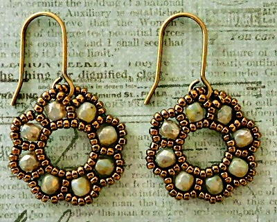 Beaded Flora Drop Earrings
