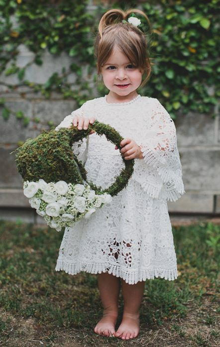 Moss DIY Flower Girl Basket