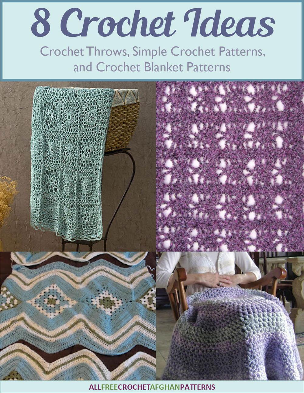 8 Crochet Ideas For Crochet Throws Simple Crochet