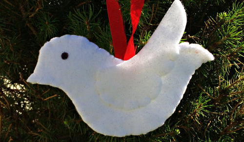 Lovely Dove DIY Ornament