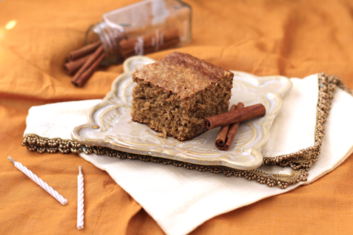 Healthy Cinnamon Apple and Butterscotch Cake