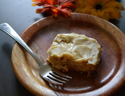 Frosted Butterscotch Apple Blondies