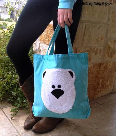 Polar Bear Applique Tote