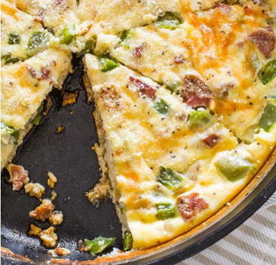 Low-Calorie Cheesy Sausage Quiche