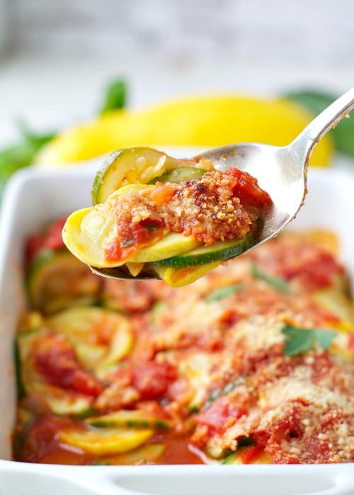 Easy Zucchini and Summer Squash Gratin