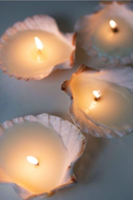 DIY Seashell Tea Lights