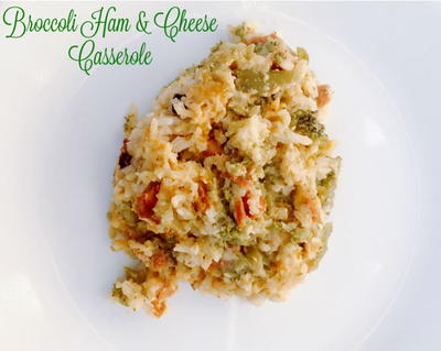 Slow Cooker Broccoli and Ham Casserole