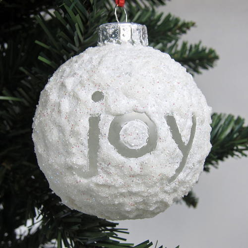 Sparkling Snowball Ornament