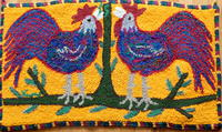 Gallos en Amarillo--Rooster on Yellow Pattern