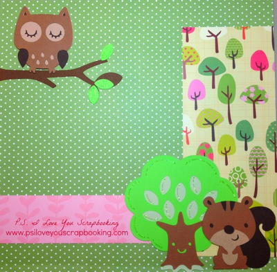 Smiling Squirrel and Friends Scrapbook Layout