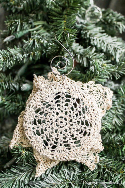 Doily DIY Christmas Ornaments
