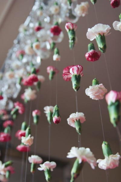 Cascading Flower DIY Wedding Backdrop