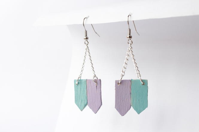 Upcycled Popsicle Stick DIY Earrings